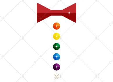 Bow Tie Buttons Rainbow 1546127415