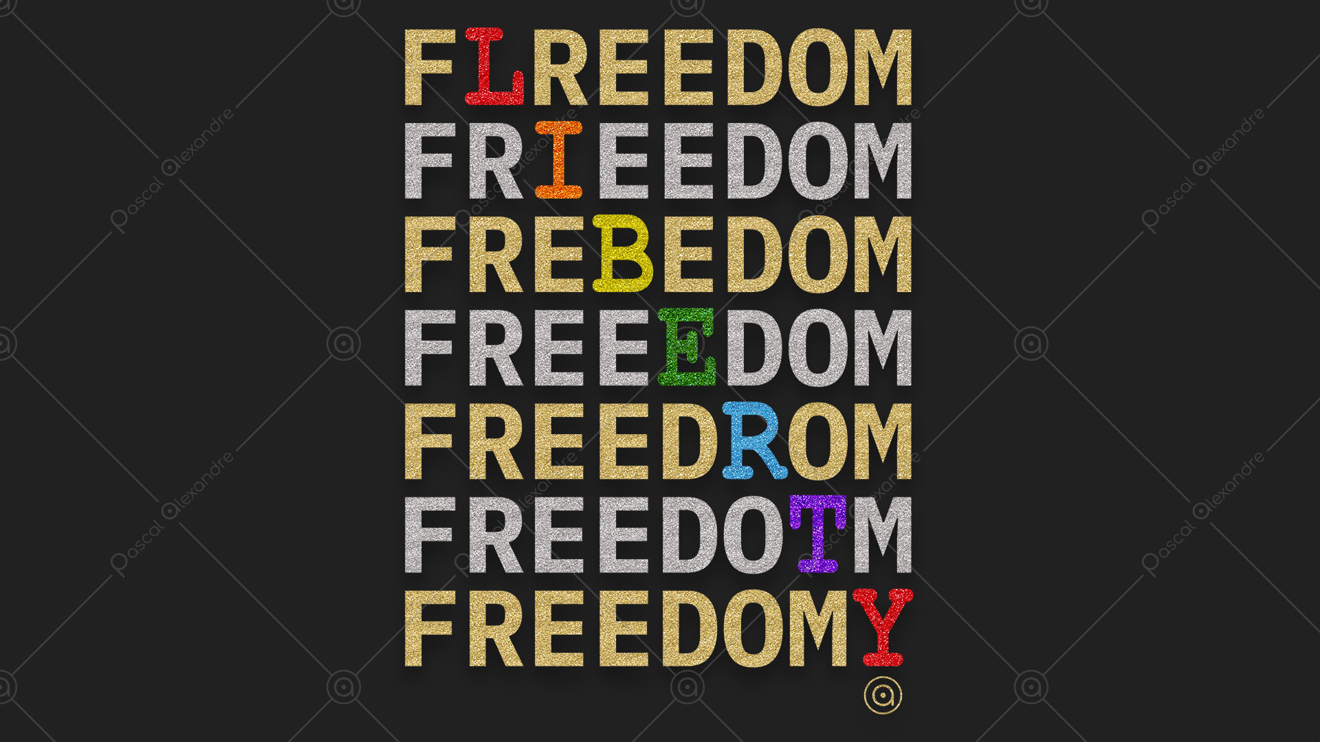 Freedom Liberty Rainbow 1554665221