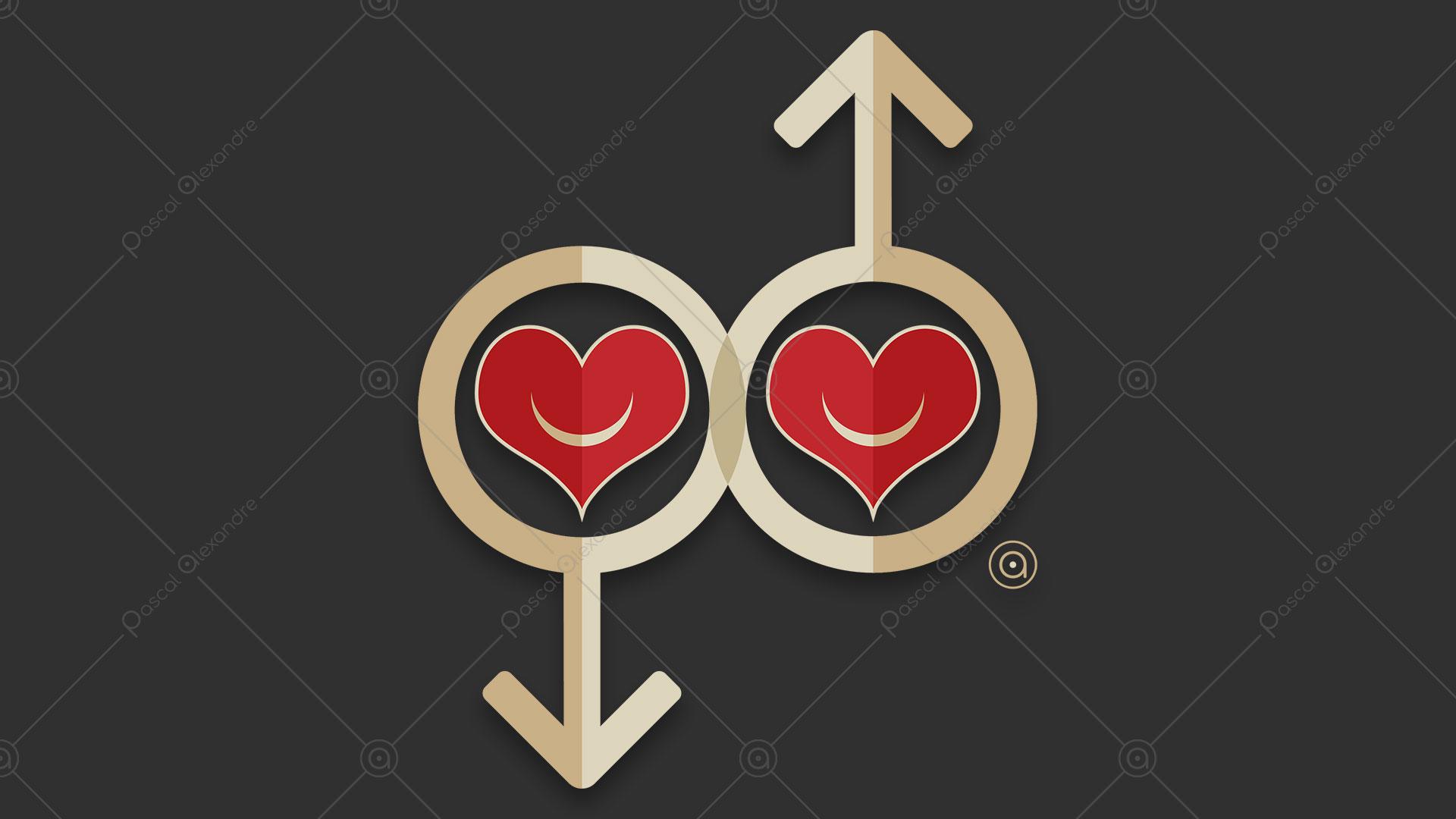 Male Symbols Hearts 1533333008