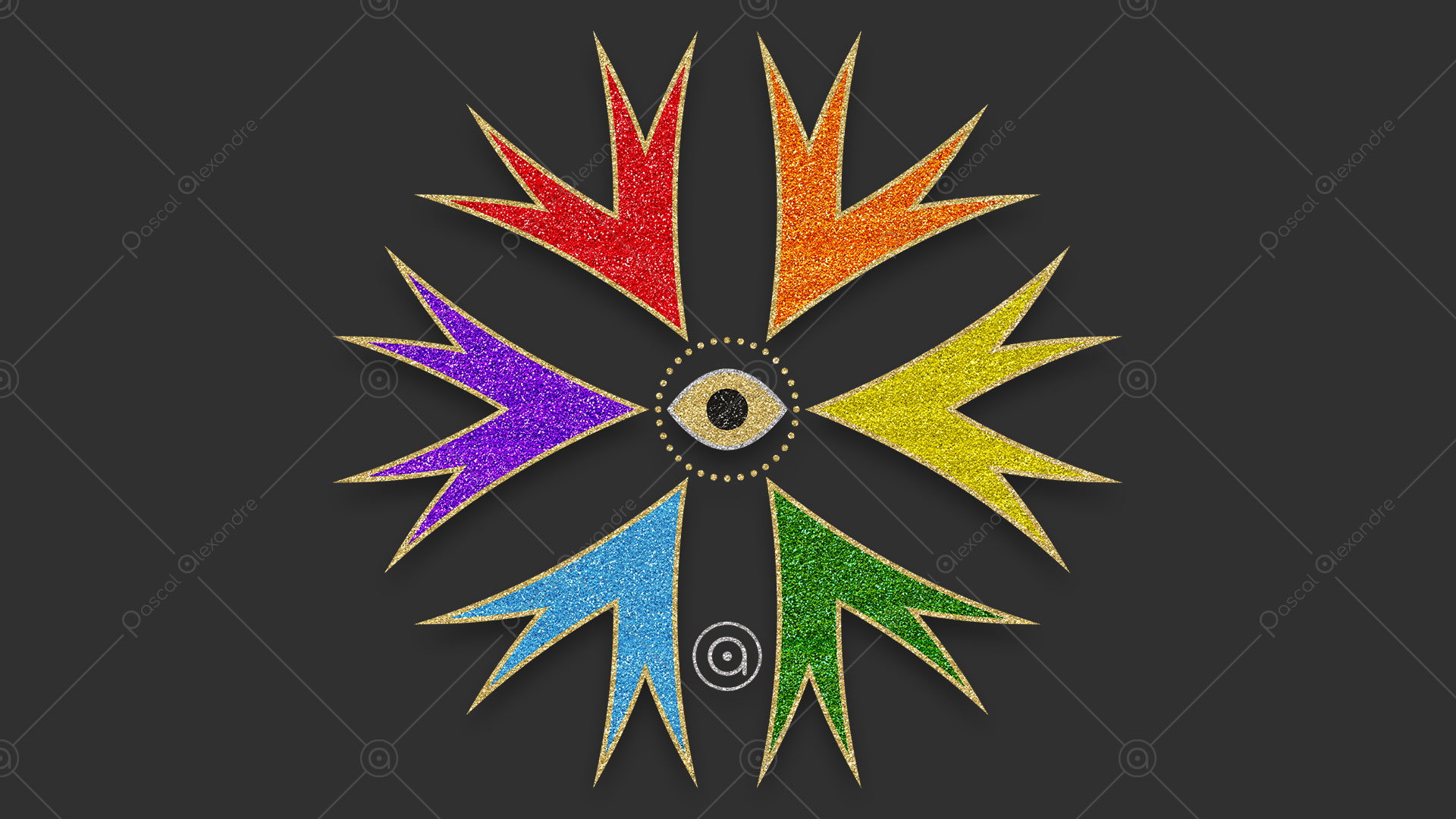 Rosace Eye Rainbow 1553055216