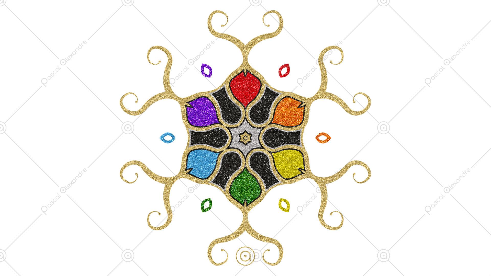 Rosace Rainbow 1552517588