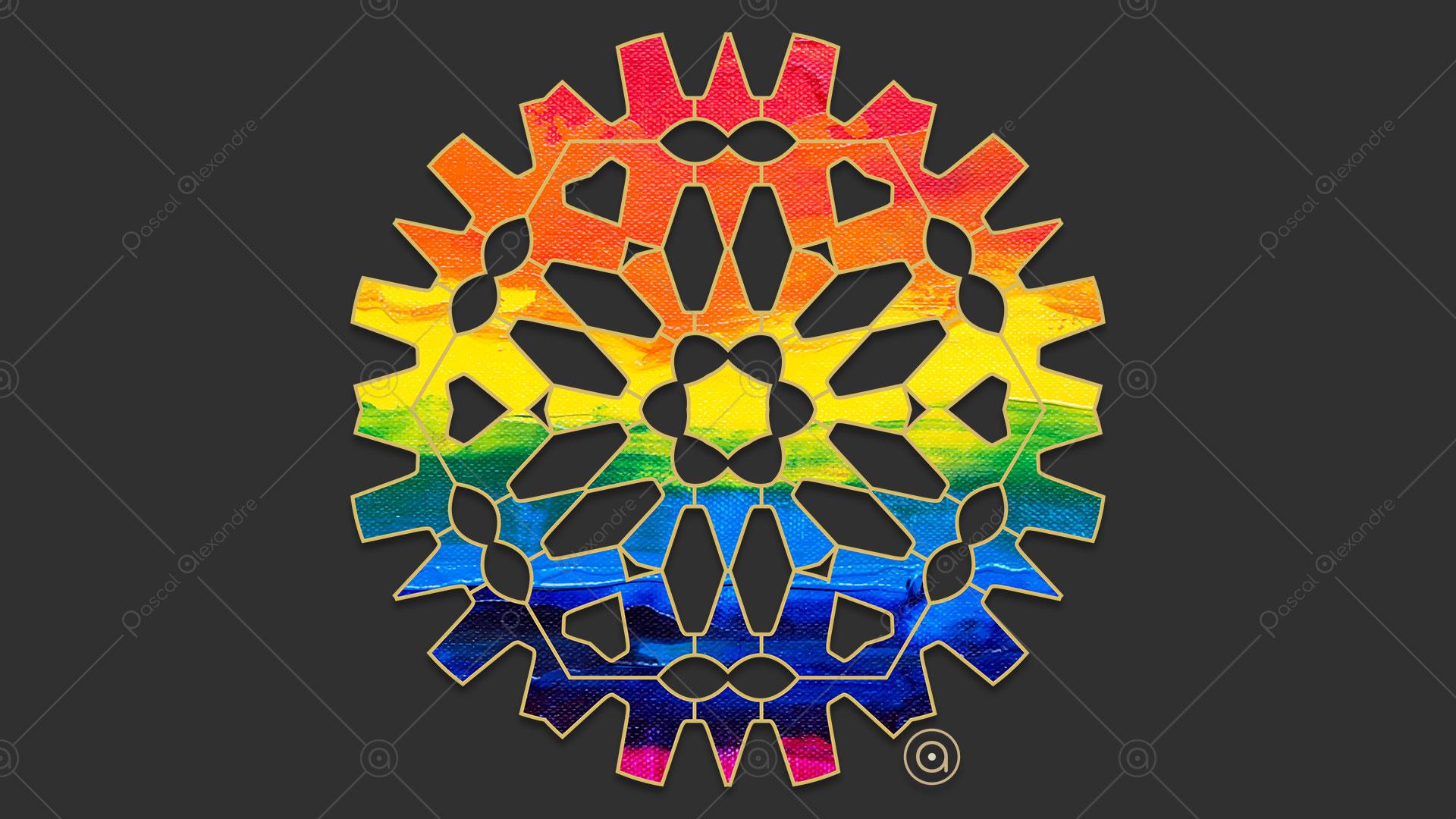 Rosace Rainbow 1556333629