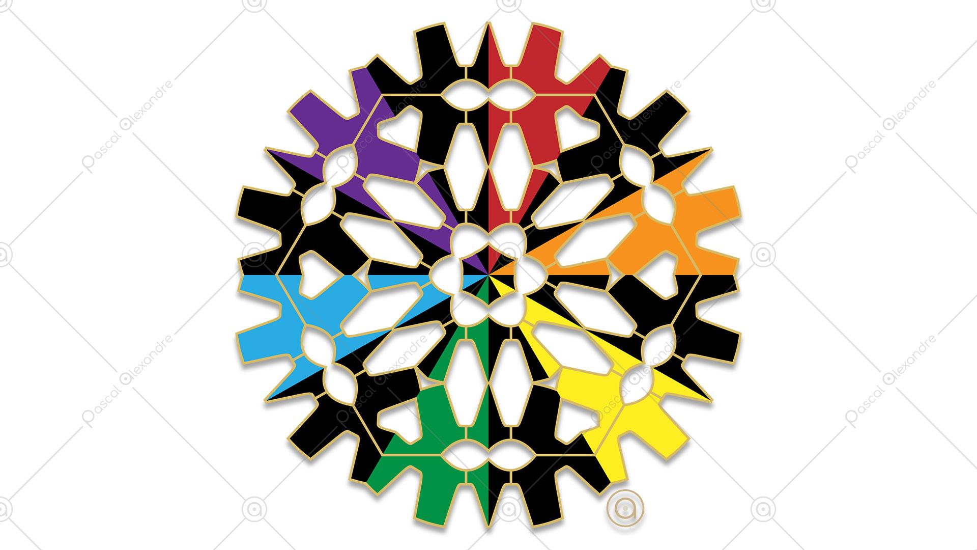 Rosace Rainbow 1556338240