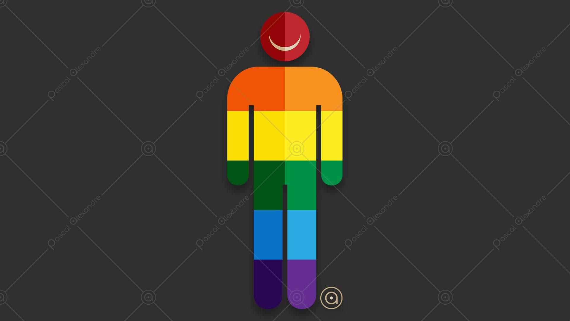 Smiley Man Rainbow 1548478353