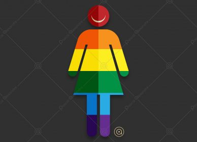 Smiley Woman Rainbow 1558040434