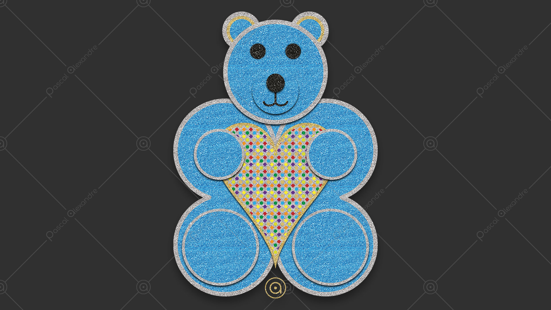 Teddy Bear Love Rainbow 1553784574